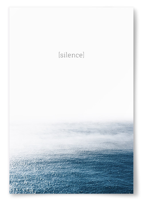 """Poster """"silence"""""""