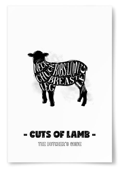 Poster Cuts Of Lamb
