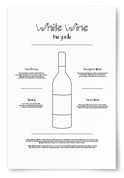 Poster White Wine Guide