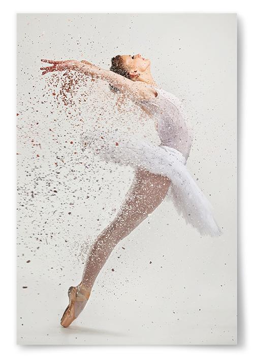 Poster Ballerina Faller Isär