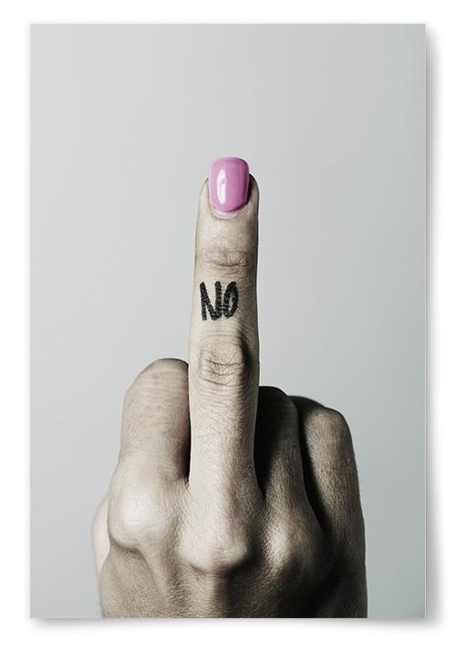 Poster Fuck You No