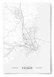 Poster Kalmar Karta Svartvit