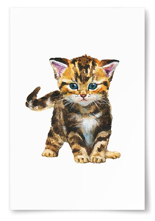 Poster Katt Målning No.1