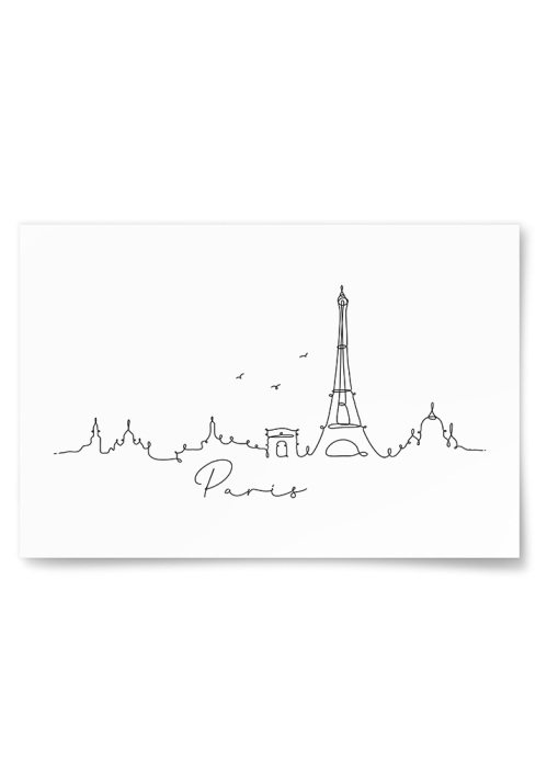 Poster Paris Skiss